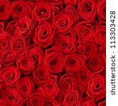 Stock photo plenty red natural roses seamless background 113303428