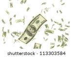 illustration of dollar falling... | Shutterstock . vector #113303584
