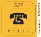 retro telephone symbol | Shutterstock .eps vector #1133036639