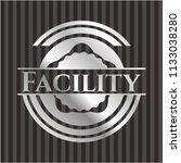 facility silvery shiny badge   Shutterstock .eps vector #1133038280