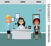 doctors office cartoon | Shutterstock .eps vector #1133043143