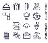 set of 16 other outline icons...   Shutterstock .eps vector #1133046980