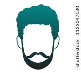 young man faceless cartoon blue ...   Shutterstock .eps vector #1133047130