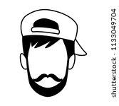 man faceless cartoon in black...   Shutterstock .eps vector #1133049704