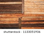 variable rustic wooden log wall ... | Shutterstock . vector #1133051936