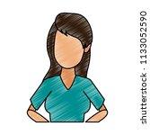 young woman faceless cartoon...   Shutterstock .eps vector #1133052590