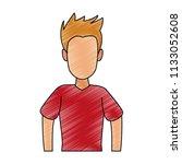 young man faceless cartoon...   Shutterstock .eps vector #1133052608