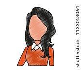 businesswoman faceless cartoon...   Shutterstock .eps vector #1133053064