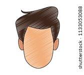 man faceless cartoon scribble   Shutterstock .eps vector #1133053088