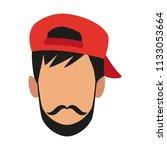 man faceless cartoon   Shutterstock .eps vector #1133053664