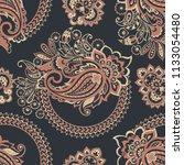 paisley seamless vector pattern.... | Shutterstock .eps vector #1133054480