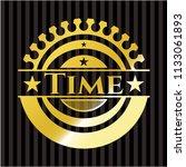 time gold shiny emblem   Shutterstock .eps vector #1133061893