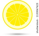 lemon slice. vector illustration   Shutterstock .eps vector #1133067623