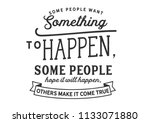 some people want something to... | Shutterstock .eps vector #1133071880