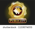 gold shiny badge with business ... | Shutterstock .eps vector #1133076053