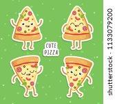 illustrations of cute cartoon... | Shutterstock .eps vector #1133079200