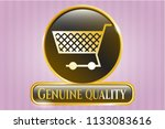 gold shiny emblem with... | Shutterstock .eps vector #1133083616
