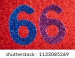 number sixty six blue purple... | Shutterstock . vector #1133085269