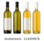 White Wine Bottle In Clear...