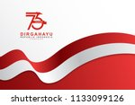 celebrate 73 tahun indonesia... | Shutterstock .eps vector #1133099126