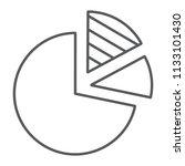 pie chart thin line icon  data...