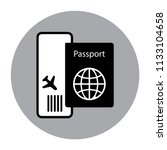 foreign passport vector icon | Shutterstock .eps vector #1133104658