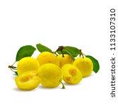 fresh  nutritious  tasty yellow ... | Shutterstock .eps vector #1133107310