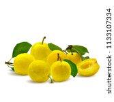 fresh  nutritious  tasty yellow ... | Shutterstock .eps vector #1133107334