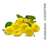 fresh  nutritious  tasty yellow ... | Shutterstock .eps vector #1133107340
