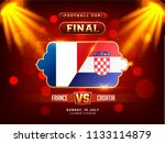football final match between... | Shutterstock .eps vector #1133114879