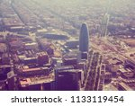 aerial view at residential... | Shutterstock . vector #1133119454