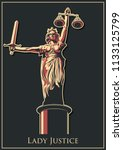 lady justice statue  | Shutterstock .eps vector #1133125799