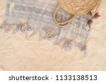 beach towel on sandy floor | Shutterstock . vector #1133138513