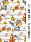 vintage striped pattern with... | Shutterstock .eps vector #1133139344