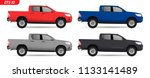 realistic pick up car model.... | Shutterstock .eps vector #1133141489