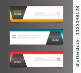horizontal gradient color... | Shutterstock .eps vector #1133148128