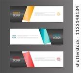 horizontal gradient color... | Shutterstock .eps vector #1133148134