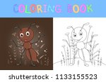 children's coloring book with...   Shutterstock .eps vector #1133155523