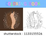 children's coloring book with...   Shutterstock .eps vector #1133155526