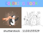 children's coloring book with...   Shutterstock .eps vector #1133155529
