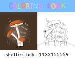 children's coloring book with...   Shutterstock .eps vector #1133155559