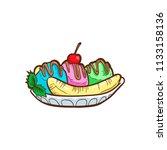 banana split vector illustration   Shutterstock .eps vector #1133158136