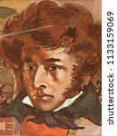 Small photo of Hector Berlioz portrait from French money