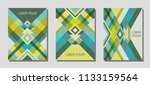 collection of cover page... | Shutterstock .eps vector #1133159564