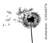 black abstract dandelion with... | Shutterstock .eps vector #1133160776