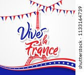 bastille day 14th of july  vive ... | Shutterstock .eps vector #1133164739