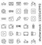 thin line vector icon set  ... | Shutterstock .eps vector #1133165993