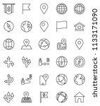 thin line vector icon set  ... | Shutterstock .eps vector #1133171090