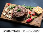 delicious beef burger steak... | Shutterstock . vector #1133172020