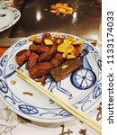 delicious kobe beef steak... | Shutterstock . vector #1133174033
